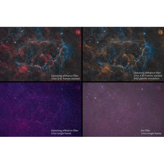 Optolong L-eNhance Light Pollution Triple-Bandpass Narrowband Imaging Filter - EOS-C Clip Filter