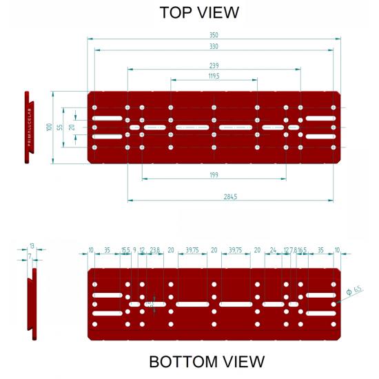 Primaluce Lab 350mm PLUS Losmandy Plate - Dovetail Bar