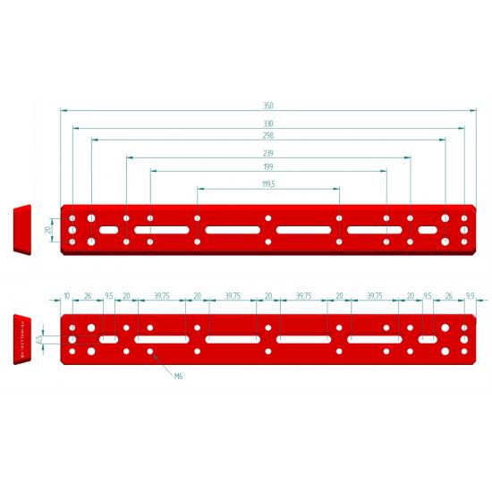 Primaluce Lab Side by Side Vixen Plate - Dual Platform - 350mm PLUS