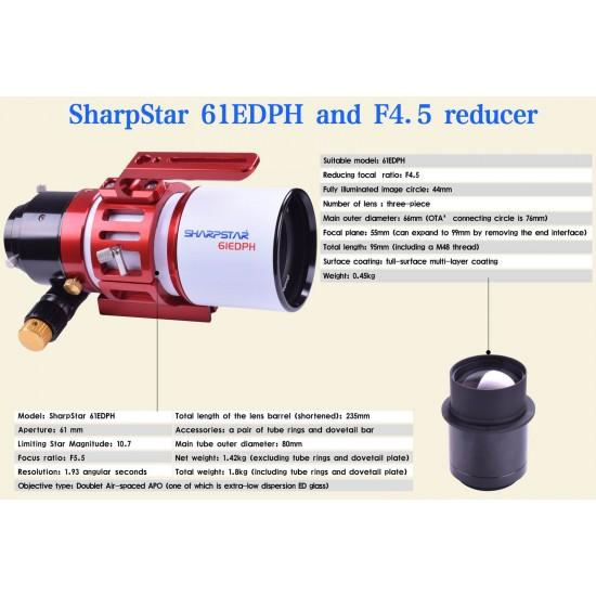 Sharpstar 0.8x Reducer and Flattener for FULL FRAME Cameras for Sharpstar 61EDPH Telescope - M48 Camera Connection