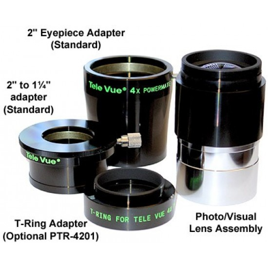 """TeleVue 4x 2"""" Powermate for Photo and Visual Use"""