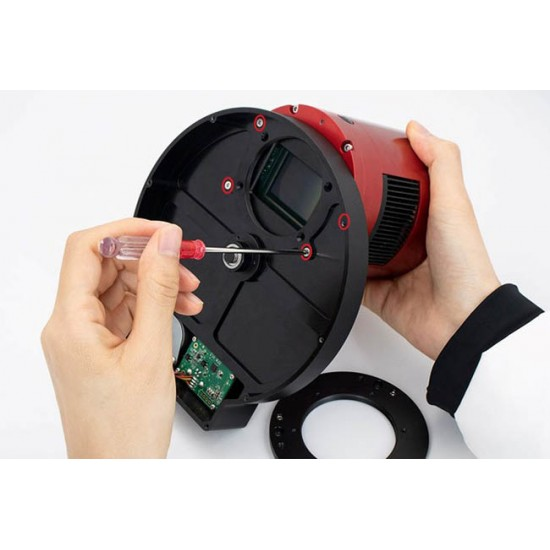 "ZWO Nikon Lens Adapter for ZWO 2"" EFW and ASI6200 / ASI2600 / ASI2400 Cameras"