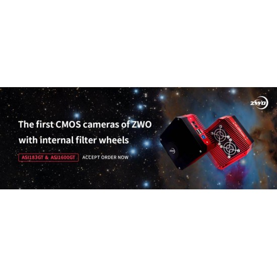 "ZWO ASI1600GT COOLED Monochrome 4/3"" CMOS USB3.0 Deep Sky Imager Camera with Internal Filter Wheel - BLACK FRIDAY"