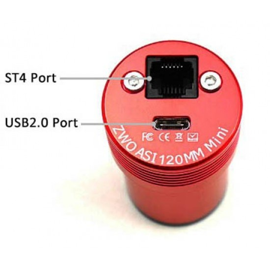 ZWO ASI120MM MINI USB2.0 Monochrome Small Format CMOS Camera with Autoguider Port