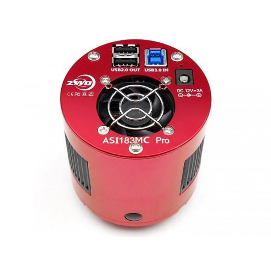 """ZWO ASI183MC PRO COOLED Colour 4/3"""" CMOS USB3.0 Deep Sky Imager Camera"""