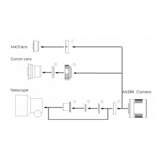 """ZWO ASI294MC PRO COOLED Colour 4/3"""" CMOS USB3.0 Deep Sky Imager Camera"""
