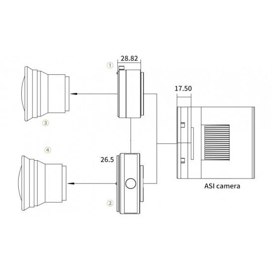 ZWO ASI2400MC PRO COOLED FULL FRAME One Shot Colour Deep Sky Imaging Camera - 24MPixels