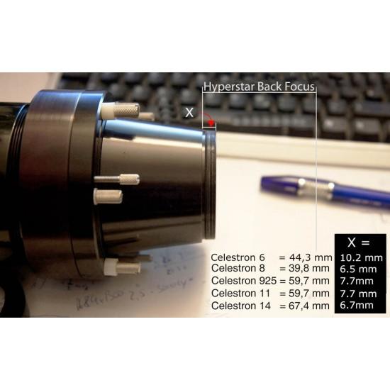 Baader UFC S70 C14 Hyperstar Telescope-side Adapter for Baader Universal Filter Changer (optical length 8.3mm)