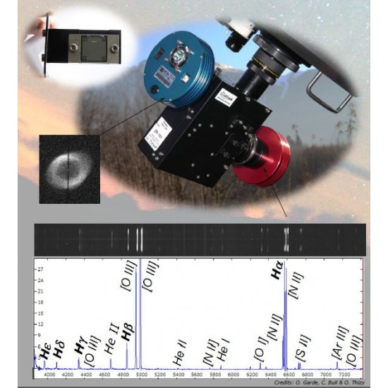 Shelyak LISA Pack - Complete Spectrograph Package with Calibration Module and Cameras