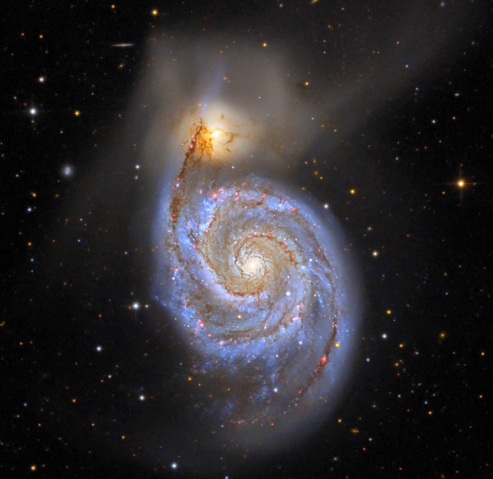 M51 - The Whirlpool Galaxy by Tommy Nawratil