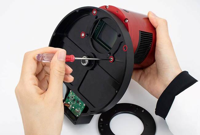 "Nikon lens adapter for 2""Filter Wheel-8"