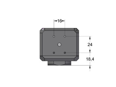 Position of the four M3 threaded holes on the bottom of C1 camera head