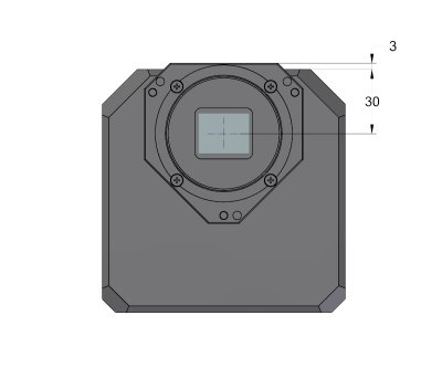 C2 camera head front view dimensions