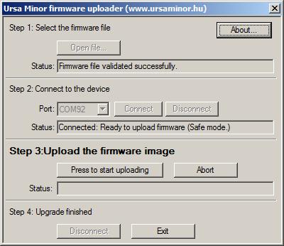Firmware uploader az MC3-hoz