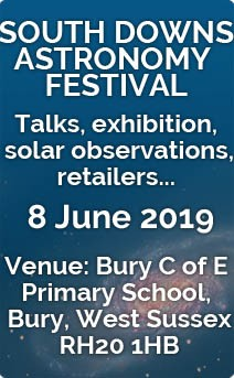 SDAF - South Downs Astronomy Festival - 8 June 2019