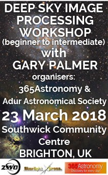 Deep sky astro photography workshop with Gary Palmer, 23 March 2018