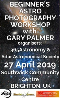Beginner\'s astro photography workshop with Gary Palmer, 27 April 2019