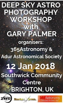 Deep sky astro photography workshop with Gary Palmer, 12 Jan 2018
