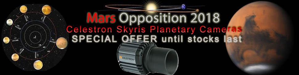 MARS OPPOSITION OFFER! Celestron Skyris cameras on offer until stocks last!
