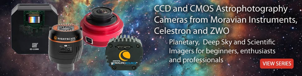 CCD and CMOS Astrophotography  Cameras from Moravian Instruments,  Celestron and ZWO