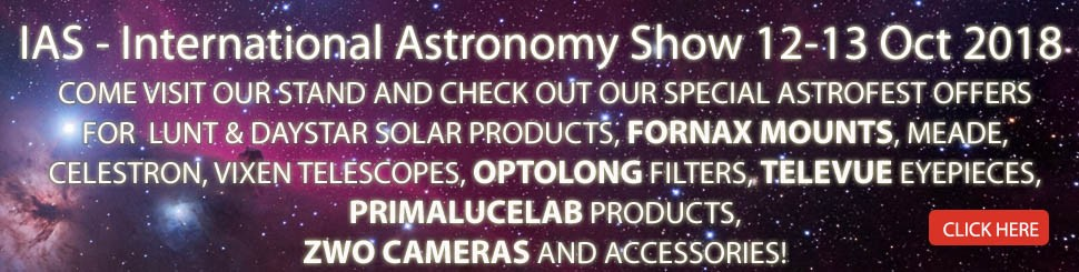 Visit us at the International Astronomy Show 2018