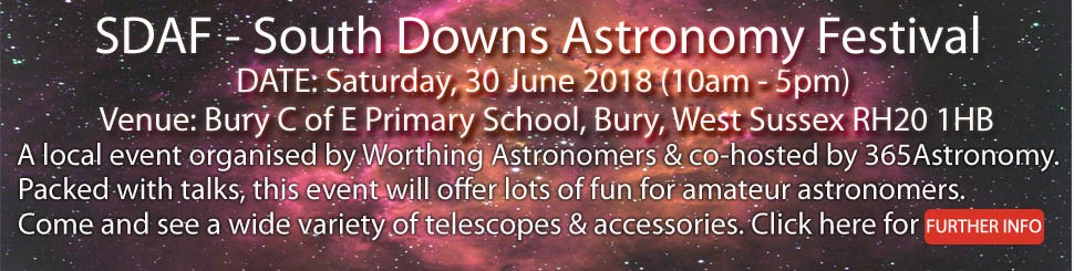 Visit us at the first ever South Downs Astronomy Festival