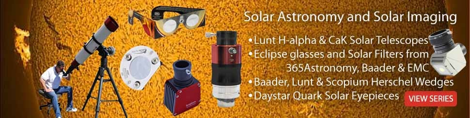 Solar Astronomy - Solar Telescopes and Filters