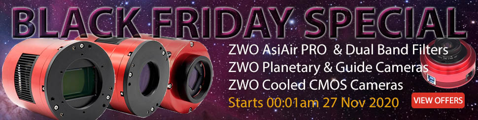 ZWO BLACK FRIDAY AND CHRISTMAS PROMOTION