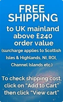 Free Shipping above £240 order value