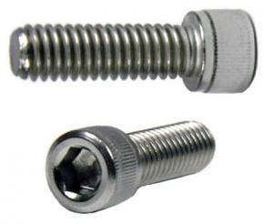 "UNC 1/4""-20 (photo thread) Socket Head Cap Stainless Steel Screw - 25mm Length"