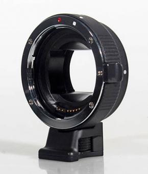 Commlite Autofocus Lens Mount Adapter - Canon EOS EF / EF-S Lens to SONY NEX E-Mount - METAL - BLACK