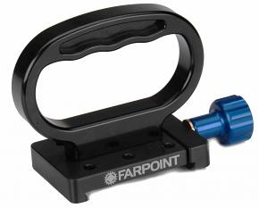 """FARPOINT D-Handle with Included Farpoint Dovetail Accessory Adapter / Clamp for 3"""" Rails"""