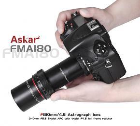 ASKAR FMA F180 f/4.5 Astrograph Camera Lens - Triplet APO Refractor Telescope with f/4.5 reducer