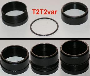 Lacerta Variable Locking T-2 Extension 24mm - 34mm Optical Length