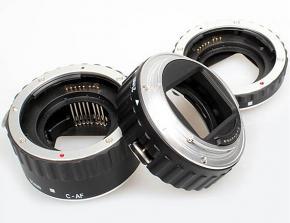 Commlite Macro Extension Tube Set TTL Autofocus for Canon EOS EF / EF-S Lenses - METAL - SILVER COLOUR