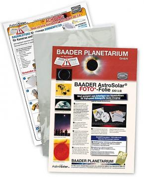 Baader AstroSolar PHOTO Film 20x30cm, Telescope Qual. ND=3.8