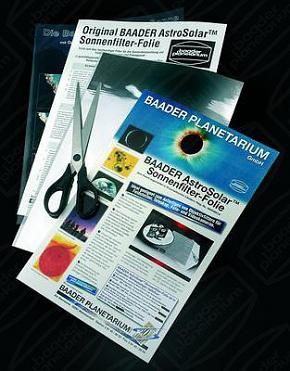 Baader AstroSolar Safety Film 20x30cm, Telescope Qual. ND = 5.0