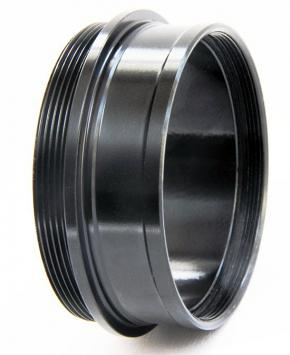 """365Astronomy 2"""" Push-fit male to 2"""" SCT male Adapter with Integrated 2"""" Filter Thread - SHORT"""