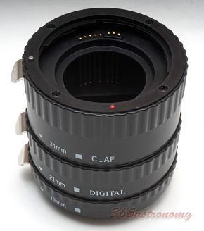 Commlite CM-PE-AFC Macro Extension Tube Set TTL Autofocus for Canon EOS EF / EF-S Lenses - PLASTIC