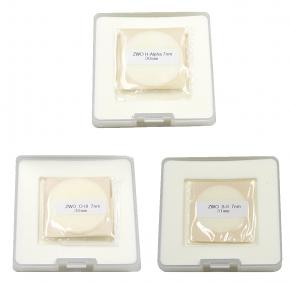 ZWO 36mm H-alpha SII OIII 7nm Narrowband Filter Set - UNMOUNTED