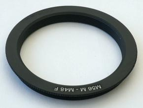 M56 - M48 Adapter Ring with Male M56 and Female M48 Threads