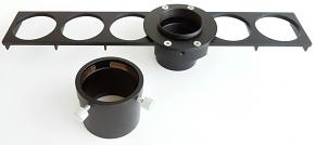"365Astronomy 6-position Sliding Filter Holder - Filter Slider for 1.25"" and 2"" Filters"