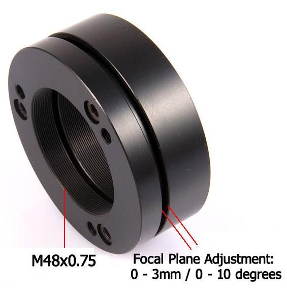 365Astronomy Camera Tilting Unit - CTU M48x0 75 - Focal Plane Adjusting Ring