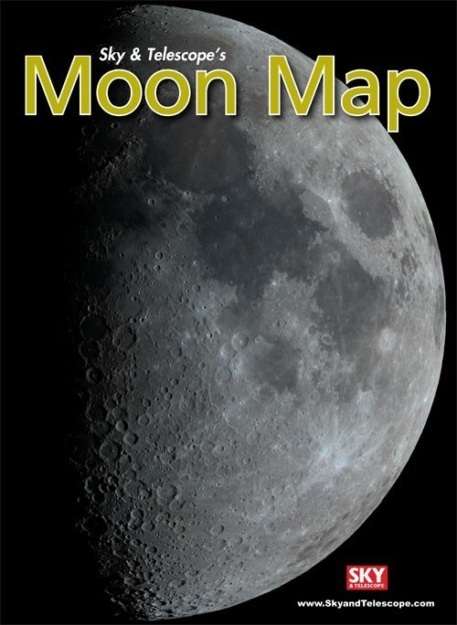 Moon Map Laminated