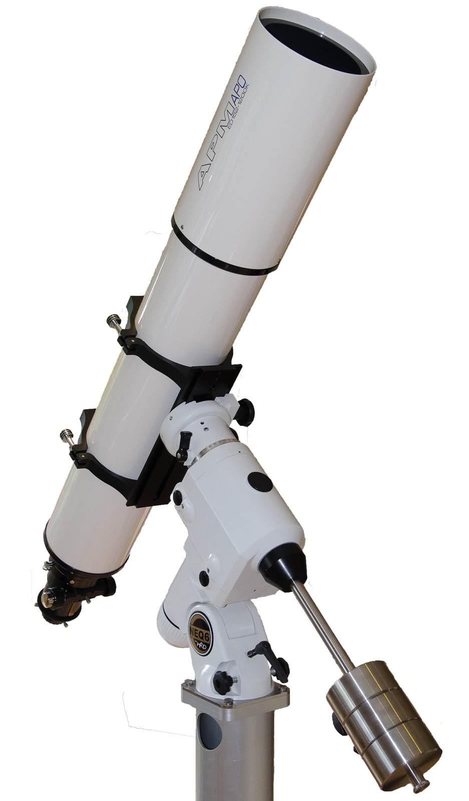 APM Telescopes 152/1200 f/8 ED APO Refractor Telescope with 2 5
