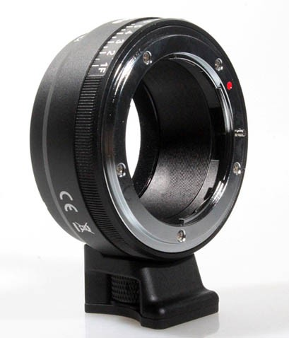 Commlite Lens Mount Adapter - Nikon G, DX, F, AI, S, D Type Lens to Sony E-Mount NEX Camera Mount - METAL - BLACK
