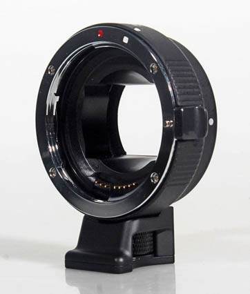 Commlite Autofocus Lens Mount Adapter - Canon EOS EF / EF-S Lens to SONY NEX E-Mount - METAL - BLACK
