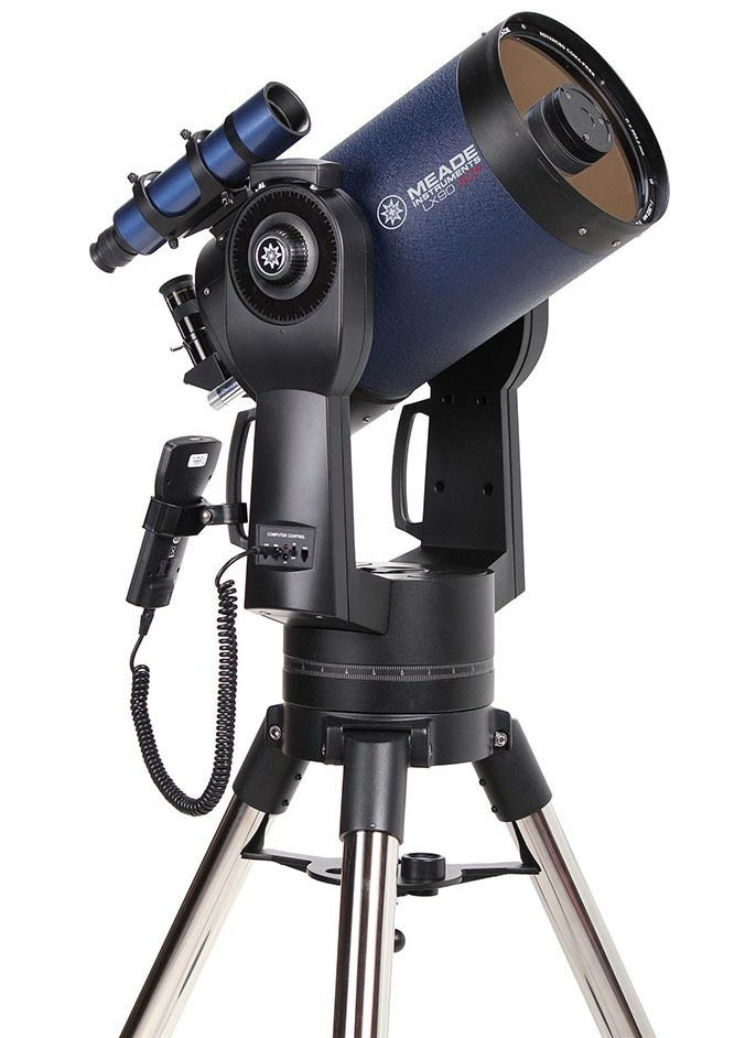 """Meade 8"""" LX90-ACF (f/10) ACF Telescope with UHTC with Computerised Mount but WITHOUT Tripod"""