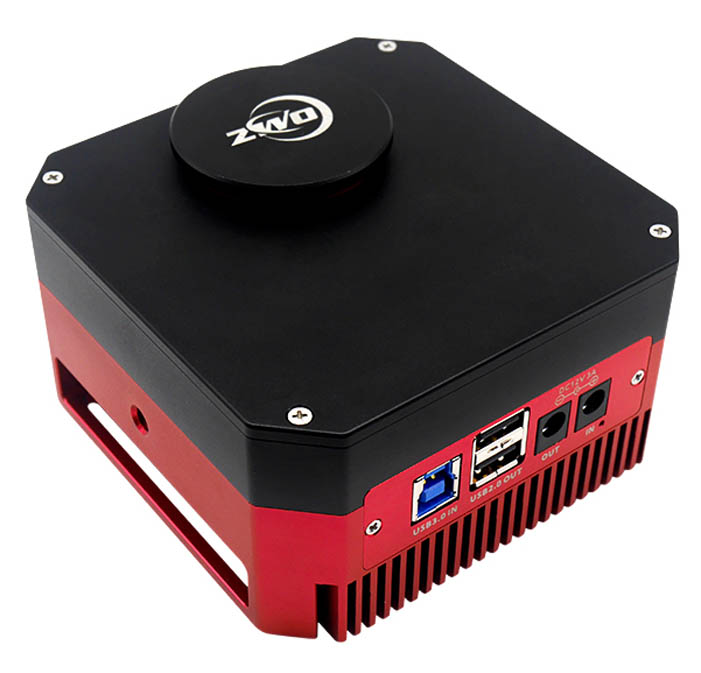 "ZWO ASI183GT COOLED Monochrome 4/3"" CMOS USB3.0 Deep Sky Imager Camera with Internal Filter Wheel"