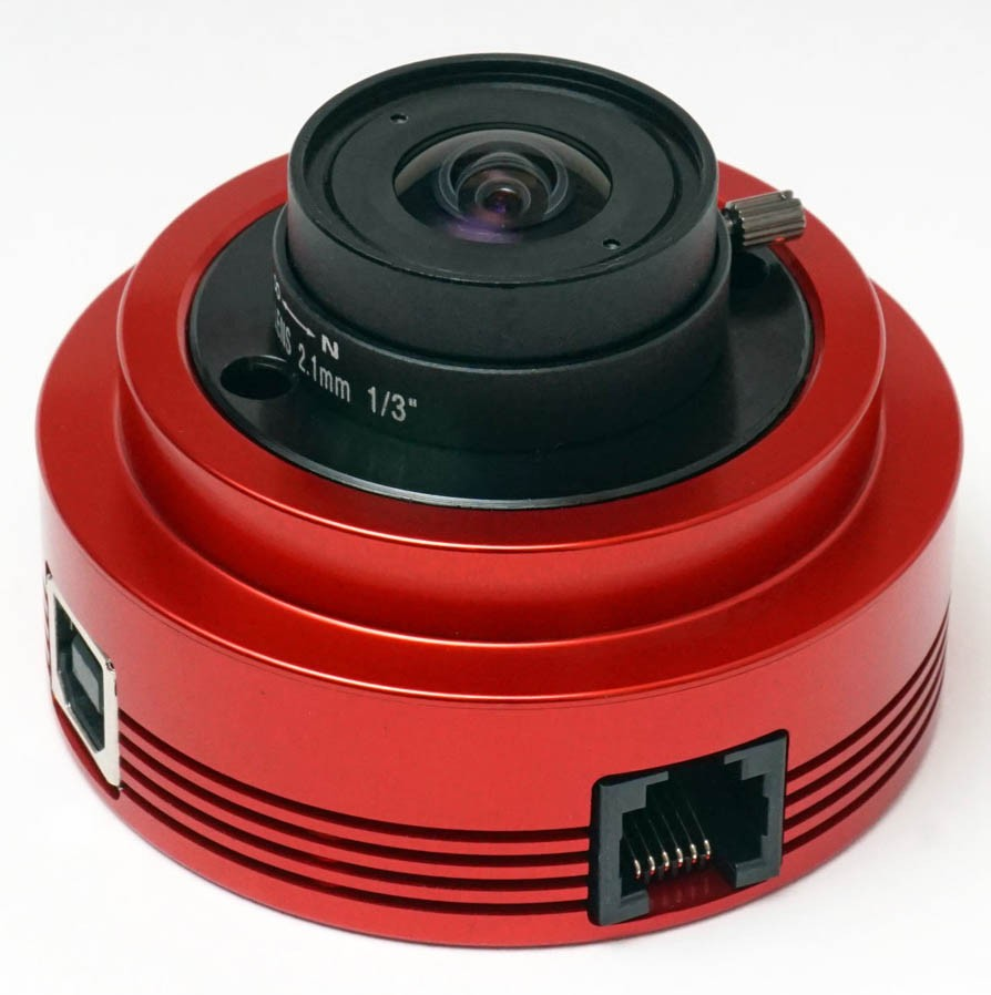 "ZWO ASI120MC Colour 1/3"" CMOS USB2.0 Camera with Autoguider Port"